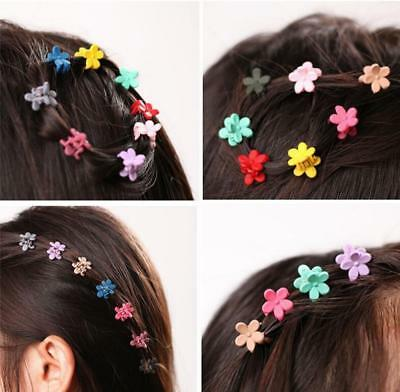 30 PCS Plastic Kids Baby Mini Claw Girls Hairpins Flower Hair Clips Clamp