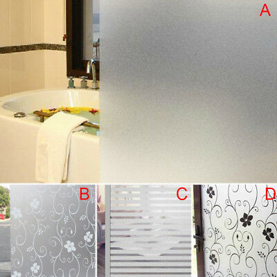 200x60CM Room Bathroom Home Glass Window Privacy Film Sticker PVC Frosted Tint