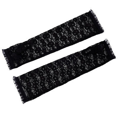 New Fashion Women's Fingerless Arm Warmer Elbow Length Lace Gloves One S CS