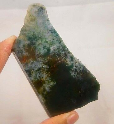 385 Cts. 100% NATURAL MOSS AGATE SLICE ROUGH LOOSE CABOCHON GEMSTONE (NC761)