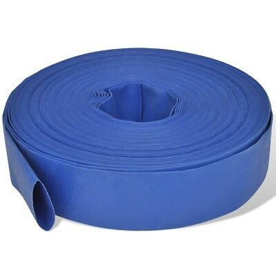 S# New 50 m 2 Inch PVC Water Delivery Flat Hose Blue Pumping Irrigation Discharg