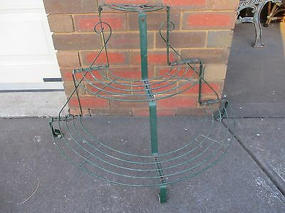 Vintage plant stand. Pot planter stand. Metal stand rack