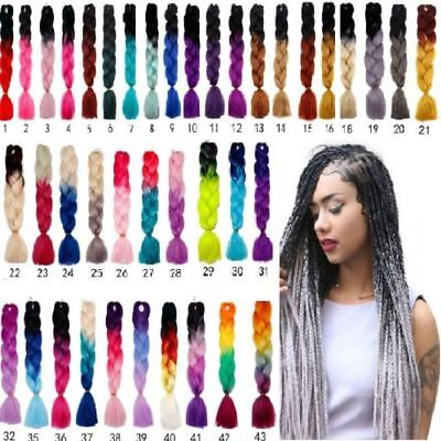 24'' Kanekalon Ombre Synthetic Jumbo Braiding Hair Extension Afro Twist Braids