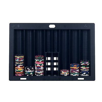 Poker Table Tray Chip Chips Holder Holds Row Game Organizer Rack Storage