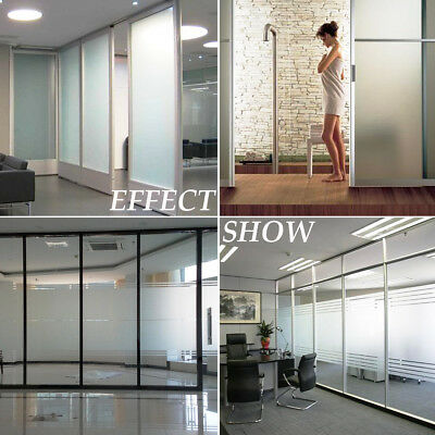 90cm x 5m Sand Blast Clear Privacy Frosted WINDOW GLASS FILM Frosting Removable