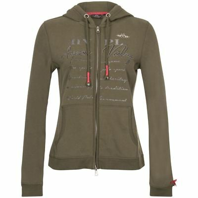 HV Polo Deora Horse Riding Comfortable Equestrian Warm Hooded Zip Cardigan