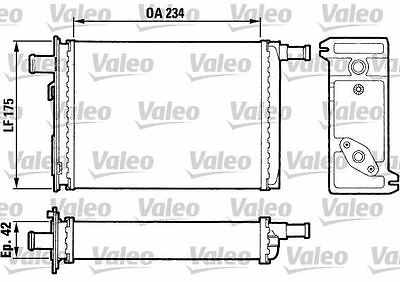 VALEO 883739 Heater Matrix  for RENAULT TRAFIC MASTER