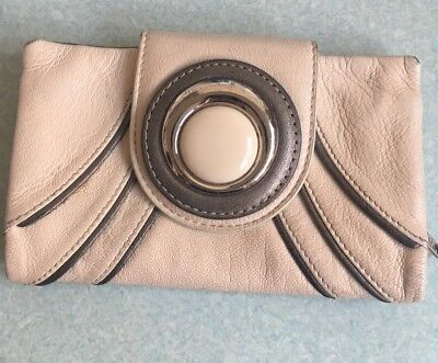 Mimco Beige Leather Wallet with Dustbag