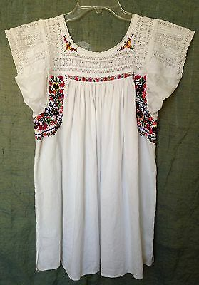 Vintage 60's rare Mexican Oaxacan Wedding Blouse, peasant, boho, exceptional