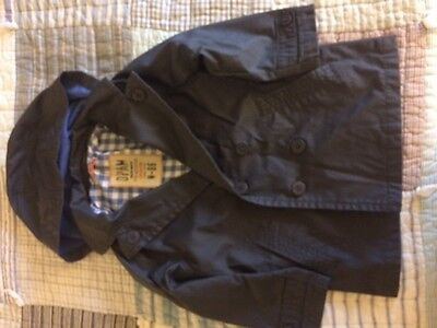 Boys Size 4 Jacket - Rain/Trench From Europe - DPAM - Blue
