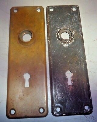 Yale & Towne door plates, 1 solid brass, 1 iron, vintage__________________SE-90P