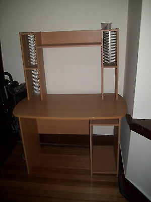 student desk with shelves