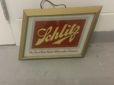 Old Metal Schlitz Clock