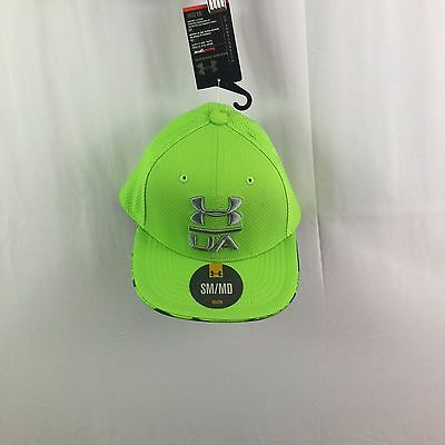 NWT Youth Under Armour  UA Blitzing 2.0 Stretch Fit Cap Yellow  hat