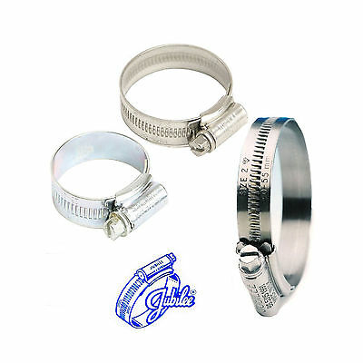 Jubilee W4 Stainless Steel Genuine Hose Clips Fuel Water Pipe Clamp Worm Drive