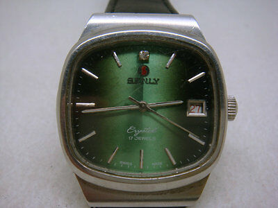 Vintage SWISS made SENLY 17 Jewels Men's Watch (DAY)