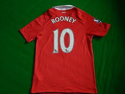 Manchester United 2010-11 Football Home Shirt Rooney 10 ,mens Small