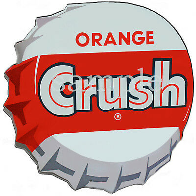 Orange Crush Bottel Cap Decal Gumball Nut Machine 4""