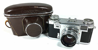 EXC+!! Zeiss Ikon Contax IIa 1:1.5 f=50mm Carl Zeiss Sonnar Lens+Case Super Clea