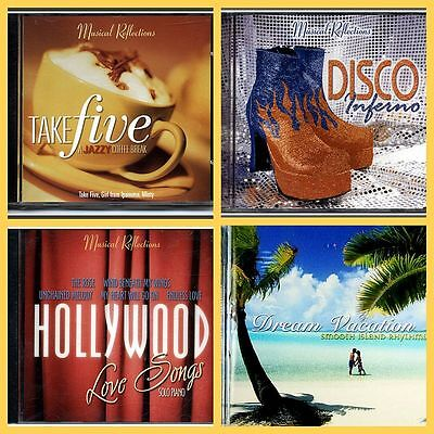 4 x MUSIC CD'S  ASSORTED TITLES, Relaxation, Dance, Easy Listening, NEW & SEALED