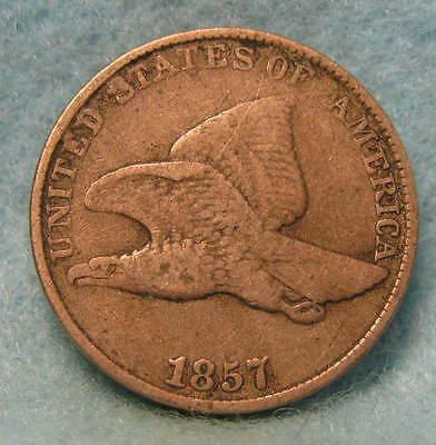 1857 Flying Eagle Penny * Circulated US Coin #1148