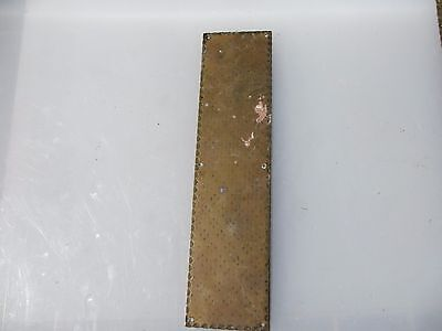 Antique Brass Finger Plate Push Door Handle Etched Shell Clam Vintage Old