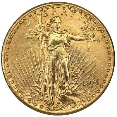 1928 $20 Saint Gaudens Gold Double Eagle ~ About Uncirculated Details Ex-Jewelry