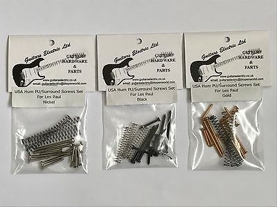 HUMBUCKER PICKUP & SURROUND SCREWS Phillips & SPRINGS in Nickel Black or Gold