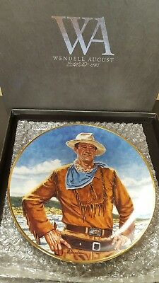 Wendell August John Wayne collectible plate Franklin Mint