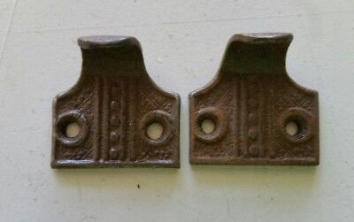 Pair Old Victorian Style Cast Iron Sash Lift Window Lifts (437A)