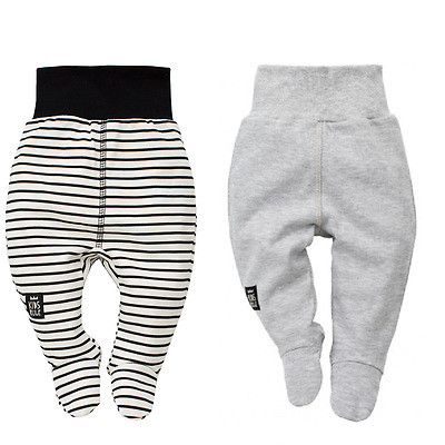 New Baby Boy Leggings With Feet Trousers Sleeper Pants 100%cotton 0 3 6 9 Months