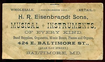 1890's H. R. Eisenbrandt Sons Musical Instuments Booklet - Baltimore,MD