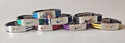 Nike Sports Silicone Stainless Steel Wristband Baller Band Bracelet Swoosh Logo