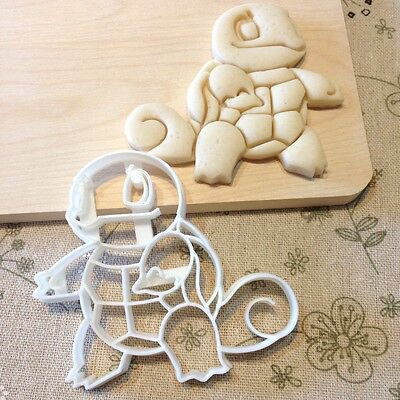 Squirtle Cookie Cutter - Pokemon Go Fondant Cake Cupcake Topper Turtle Pikachu