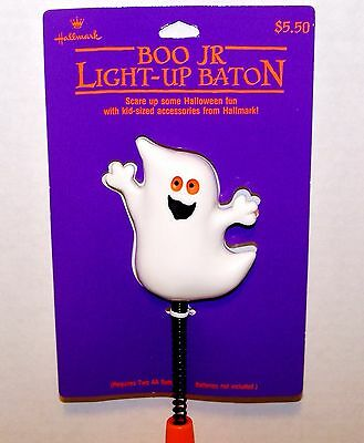 1989 HALLOWEEN New with Tag Hallmark BOO JR LIGHT UP BATON Rare Smiling GHOST