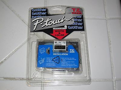 Brother P-Touch Tape Cassette TZ-344 Laminated Labels White Print on Black