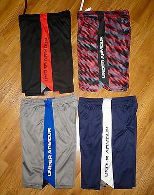 Lot 4 Pair Boy's UNDER ARMOUR Eliminator Loose Athletic Shorts YLG Large 14/16