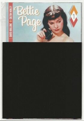 BETTIE PAGE #1 BLACK BAG NUDE VARIANT DYNAMITE COMIC POLY BAG In Stock