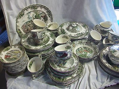 Johnson Brothers-Friendly Village, Millstream (side,salad platter plates, cereal