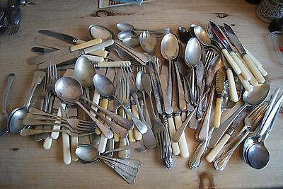 Large Quantity of Old Cutlery - Spoons, Forks etc.100 + items - 4.3 kilo