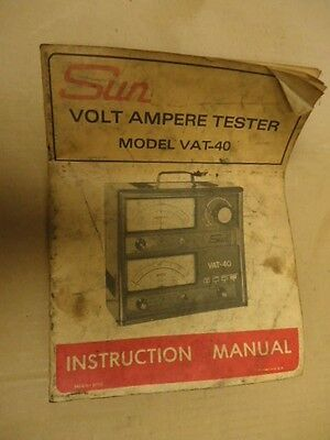 SUN Model VAT-40 Instruction Manual