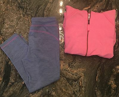 2 Piece Set Circo Purple Leggings & Matching Pink Hoodie EUC! Sz L 10/12