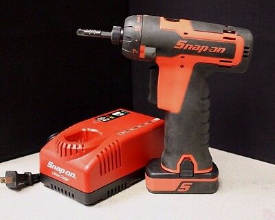 "Snap-On 14.4V 1/4"" MicroLithium Cordless Screwdriver W/ Battery & Charger"