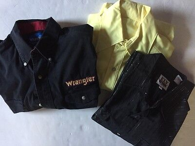 Lot of 3 COWBODY WESTERN SHIRTS Wrangler, Ely Size L