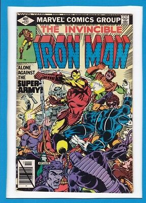 """Invincible Iron Man #127_October 1979_Very Fine_""""alone Against The Super-Army""""!"""