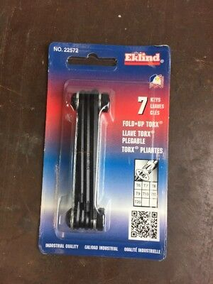 Eklind 22572 7 Piece Torx Key Set T6 - T20 FREE SHIPPING