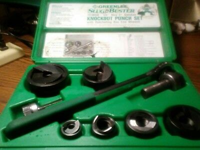 "Greenlee 7238Sb Slug Buster Knockout Punch Set Wrench Driver 1/2"" Through 2"""