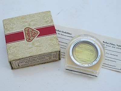 """Rollei Rolleiflex Bay I light yellow filter with case & BOX """"LQQK"""""""
