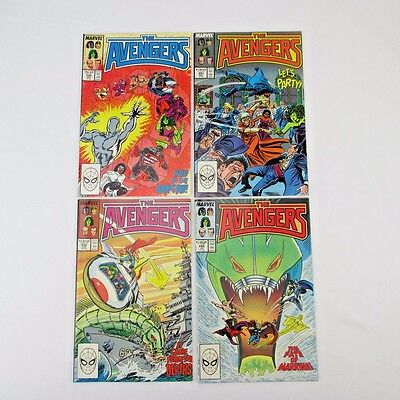 Lot of 4 Marvel Avengers Issues 290-293 M NM Vintage 1988 Copper Age Comic Books