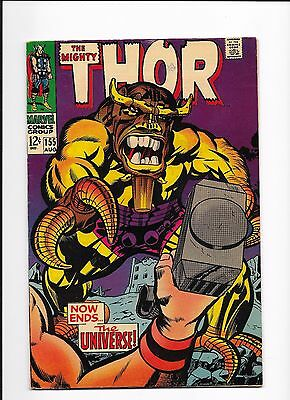 The Mighty Thor # 155  Now Ends The Universe  Loki Warriors Mangog Appearance